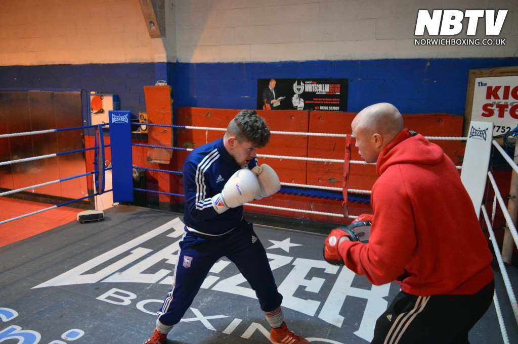 Billy Bird on the pads with Jon Thaxton