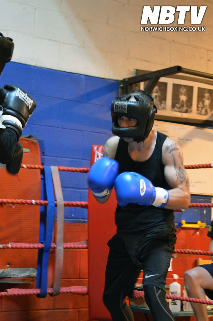 Zaiphan Morris sparring at the Kickstop gym